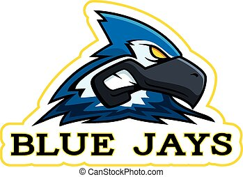blå jay, cartoon, mascot