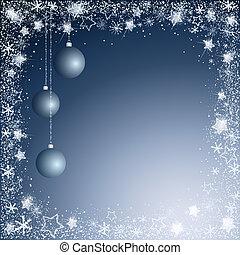 blå, jul, bakgrund