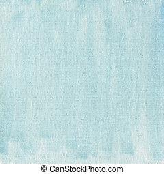 blå, kanfas, lätt, abstrakt, struktur, vattenfärg