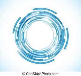 blå, karta, cirkel, grafisk, teknologi