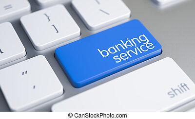 blå, keypad., service, text, -, bankrörelse, tangentbord, 3d.