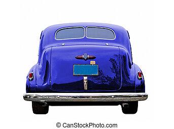 blå, klassisk vogn
