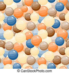 blå, klumpa ihop sig, seamless, gul fond, bubbla, röd