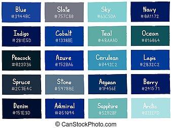 blå färger namn