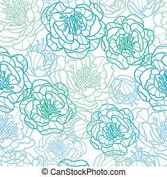 blå, konst, mönster, seamless, bakgrund, fodra, blomningen