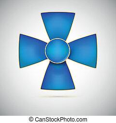 blå kryds, illustration, i, en, militær, medalje