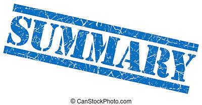 blå kvadratiske, grunge, frimærke, isoleret, resumé,...