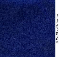 blå, läder, struktur, bakgrund