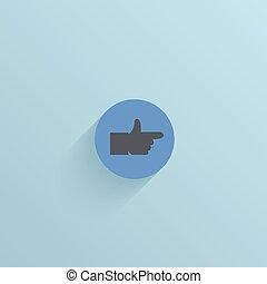 blå, lägenhet, eps10, bakgrund., vektor, cirkel, ikon