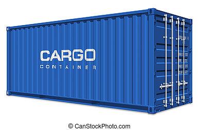 blå, last behållare