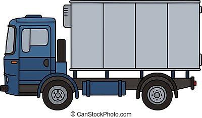 blå, last lastbil