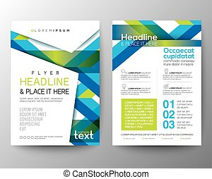 blå, layout, bakgrund, affisch, abstrakt, vektor, grön, mall, broschyr, design, flygare