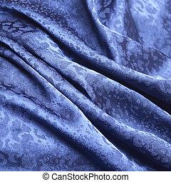 blå, leopard, mönster, silke, material