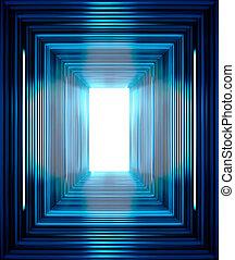 blå linje, baggrund