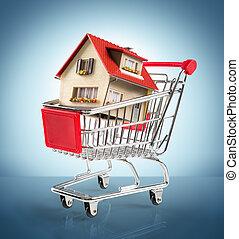 blå logera, shopping-cart, -
