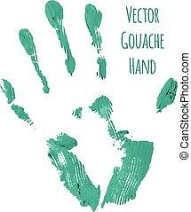 blå, märke, vektor, greased, hand