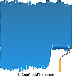 blå måla, roller