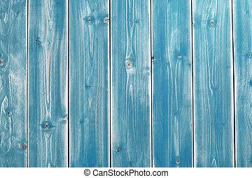 blå, målad, planka, bakgrund, trä