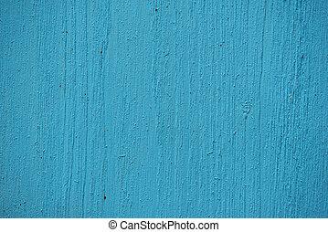 blå, målad, ved struktur, bakgrund
