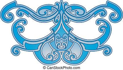 blå, mönster, abstrakt