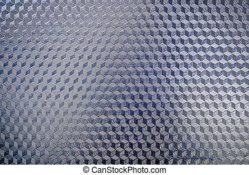 blå, mönster, metall, glänsande, yta