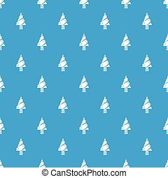 blå, mönster, nymodig, träd, seamless, vektor, jul