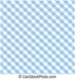 blå, mönster, pläd, seamless