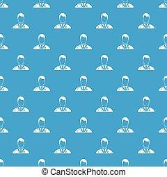 blå, mönster, seamless, läkare