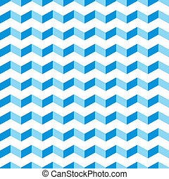 blå, mönster, vektor, aztekisk, sparre