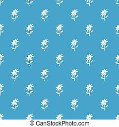 blå, mönster, vektor, blomma, seamless