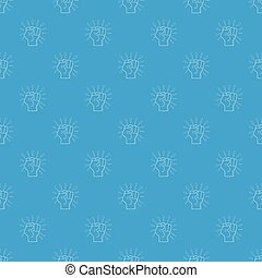 blå, mönster, vektor, seamless, upplopp