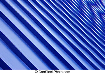 blå, metall, tak