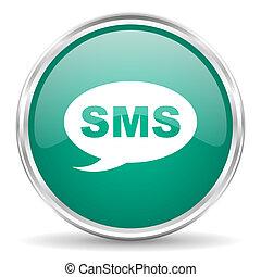 blå, nät, sms, glatt, cirkel, ikon