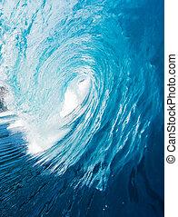 blå ocean, våg