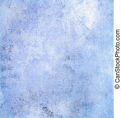 blå, papper, grunge, struktur