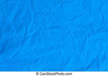 blå, papper, skrynkligt