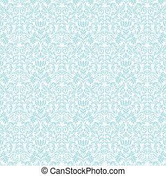 blå, pastell, &, damast, seamless, vit