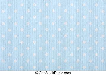 blå, pastell, tyg, polka, struktur, makro, bakgrund, punkt