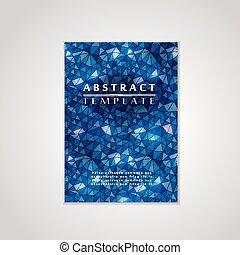 blå, plakat, konstruktion, mosaik, baggrund