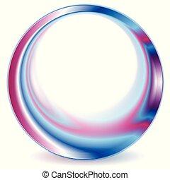 blå, purpur, abstrakt, baggrund, logo, cirkel
