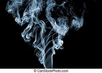 blå, röka