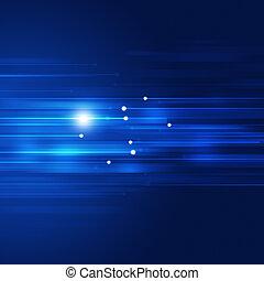 blå, rörelse, abstrakt, teknologi, bakgrund