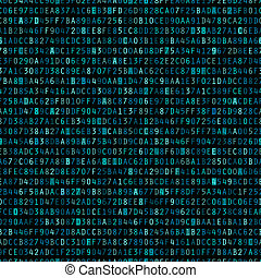 blå, repeterande, hexadecimal, bakgrund
