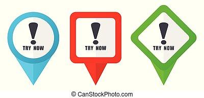 blå, sätta, bakgrund, färgrik, kvittrande, isolerat, icons., edit., vektor, grön, lokalisering, lätt, vit röd, pekare, märken