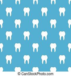 blå, seamless, mönster, bakgrund, tänder, vit
