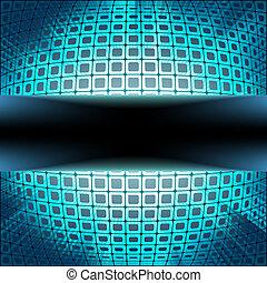 blå, signalljus, eps, burst., 8, fyrkanteer, teknologi