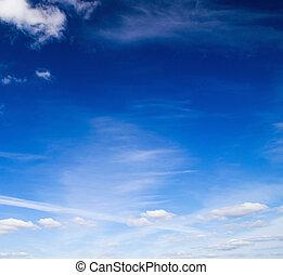 blå, sky.
