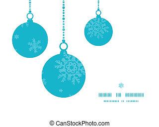 blå, snöflingor, mönster, ram, seamless, agremanger, vävnad, bakgrund, jul