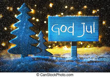 blå, Sneflager, betyder, Gud,  jul, træ,  Merry, Jul