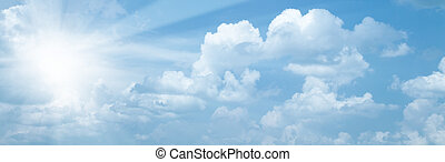 blå, sol, abstrakt, bakgrunder, lysande,  Skies